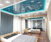 Резной потолок в спальне