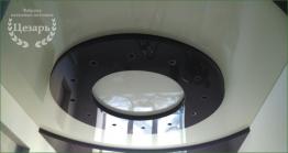 Двухуровневый натяжной потолок в Хабаровске