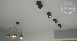Матовый натяжной потолок со спотами в Хабаровске