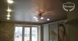 Сатиновый натяжной потолок со встроенным освещением в Хабаровске